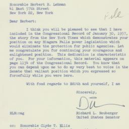 Letter: 1957 January 31