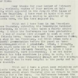 Letter: 1957 February 17
