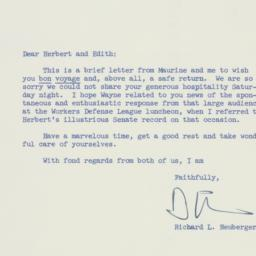 Letter: 1957 May 27