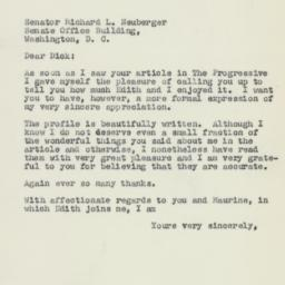 Letter: 1958 May 31