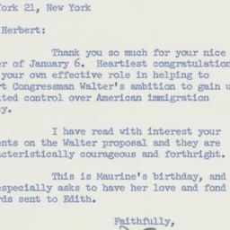 Letter: 1959 January 9