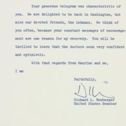 Letter: 1959 February 16