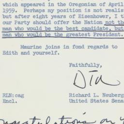 Letter: 1959 April 9