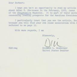Letter: 1960 January 26