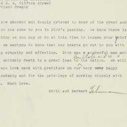 Telegram: 1960 March 9