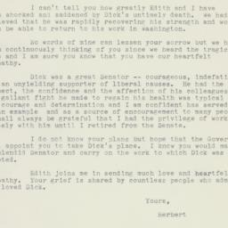 Letter: 1960 March 10