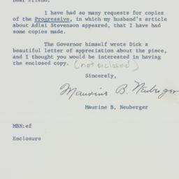 Letter: 1960 May 27