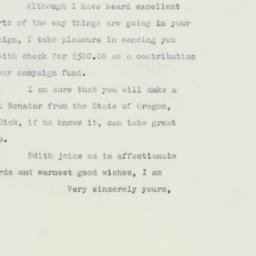 Letter: 1960 October 19