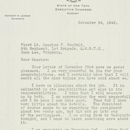 Letter: 1942 November 24