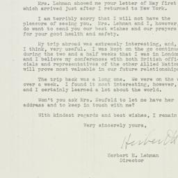 Letter: 1943 May 5