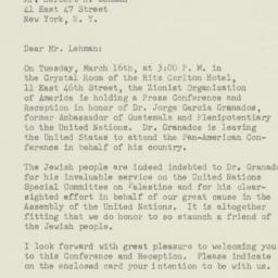 Letter: 1948 March 11
