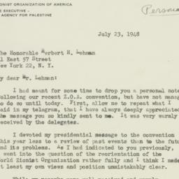 Letter : 1948 July 23