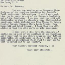 Letter: 1958 February 18
