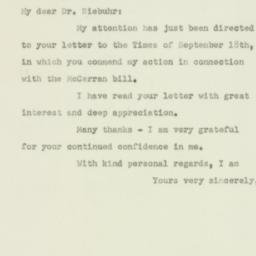 Letter: 1950 September 22