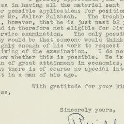 Letter: 1951 November 1