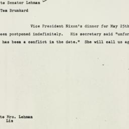 Memorandum : 1954 May 11