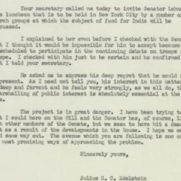 Letter : 1951 March 22