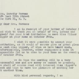 Letter : 1951 October 19