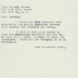 Letter : 1954 January 2