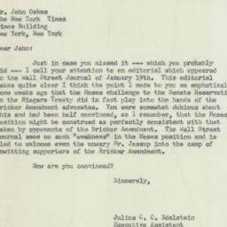 Letter : 1956 January 25
