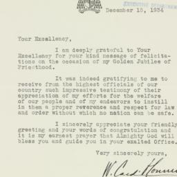 Letter : 1934 December 15