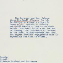 Letter : 1941 October 8