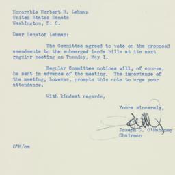 Letter : 1951 April 24