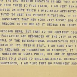 Telegram : 1946 March 29