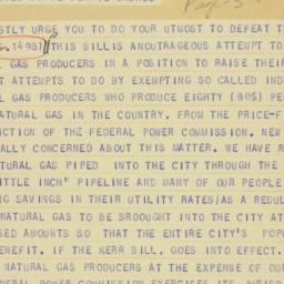 Telegram : 1950 March 9