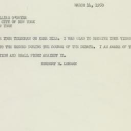 Telegram : 1950 March 14