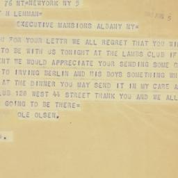 Telegram : 1942 August 5