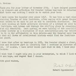 Letter : 1961 December 19