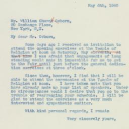 Letter : 1940 May 6