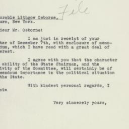 Letter : 1932 December 13