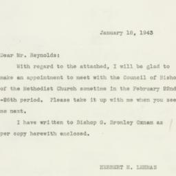 Letter : 1943 January 18