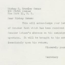 Letter : 1950 October 27