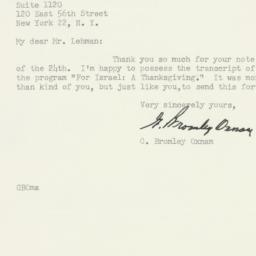 Letter : 1958 May 28