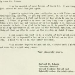 Letter: 1944 March 29