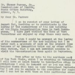 Letter : 1932 August 8