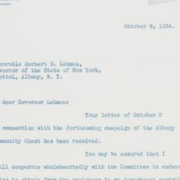 Letter : 1934 October 8