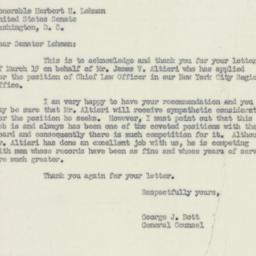 Letter : 1951 March 23