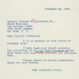 Letter : 1942 November 18