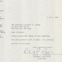 Letter : 1948 April 2