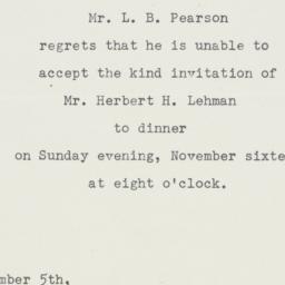 Letter : 1947 November 5