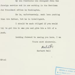 Letter : 1952 June 13