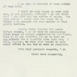 Letter : 1952 June 18