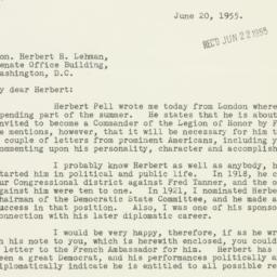 Letter : 1955 June 20