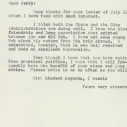 Letter : 1955 July 16