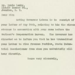 Letter : 1930 May 28
