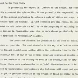 Memorandum: 1933 January 3